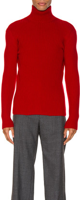 Balenciaga Long Sleeve Turtleneck in Red | FWRD