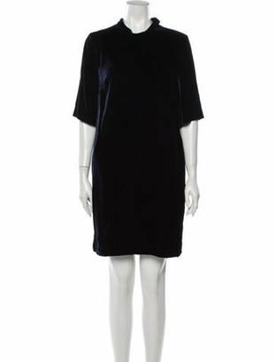Judith & Charles Mock Neck Mini Dress w/ Tags Blue