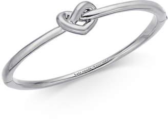 Kate Spade Gold-Tone, Silver-Tone or Rose-Gold Tone Love Me Knot Bangle Bracelet