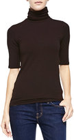 Neiman Marcus Majestic Paris for Soft Touch Half-Sleeve Turtleneck
