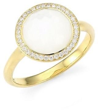 Ippolita Lollipop Small 18K Yellow Gold, Mother-Of-Pear & Diamond Ring