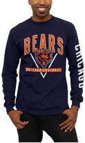 Junk Food Clothing Men's Chicago Bears Nickel Formation Long Sleeve T-Shirt