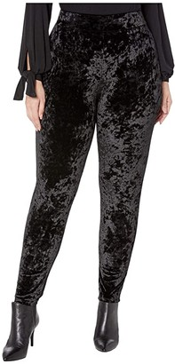 MICHAEL Michael Kors Size Velvet Leggings (Black) Women's Casual Pants