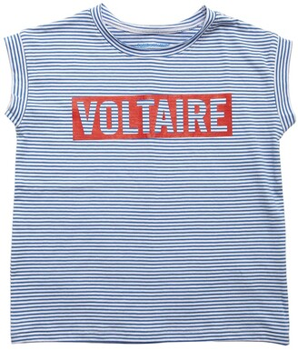Zadig & Voltaire Logo Striped Cotton Jersey T-shirt