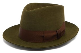 Lock & Co Hatters Stratton Escorial-wool Fedora - Green