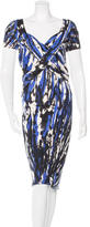 Blumarine Wool Printed Dress