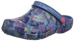 Coqui Women's Printed Clog Open-Back Shoe, Blue () (37 EU)