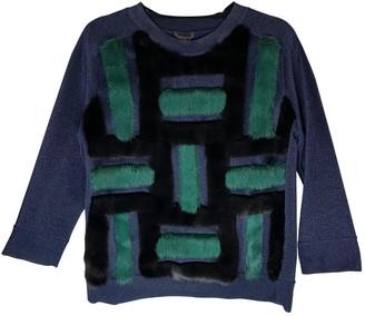 Louis Vuitton Navy Mink Knitwear for Women