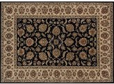 Loloi Rugs Black Loloi Elegante 8'x8' Traditional Round Area Rug from RugPal.com