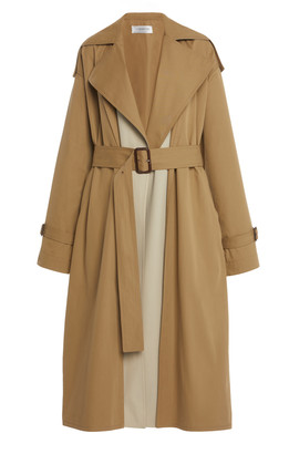 Victoria Beckham Two-Tone Cotton Trench Coat