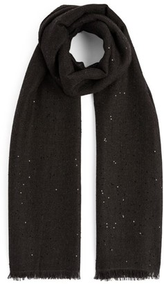 Brunello Cucinelli Sequin-Embellished Scarf