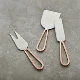 Crate & Barrel Beck Copper Cheese Knives