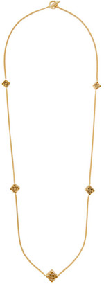 Loewe Gold Long Anagram Necklace