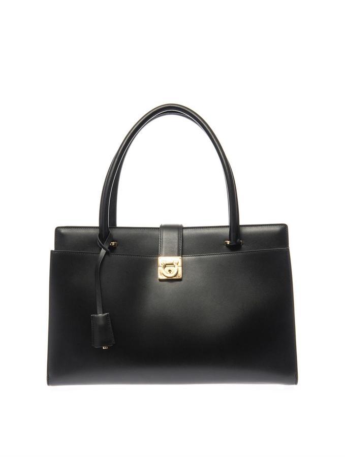 Salvatore Ferragamo Mandy large leather tote
