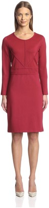 Society New York Women's F158 046-AZN Seam Detail Dress