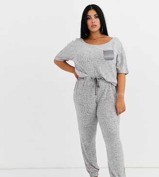 Figleaves Curve lounge pant in gray marl