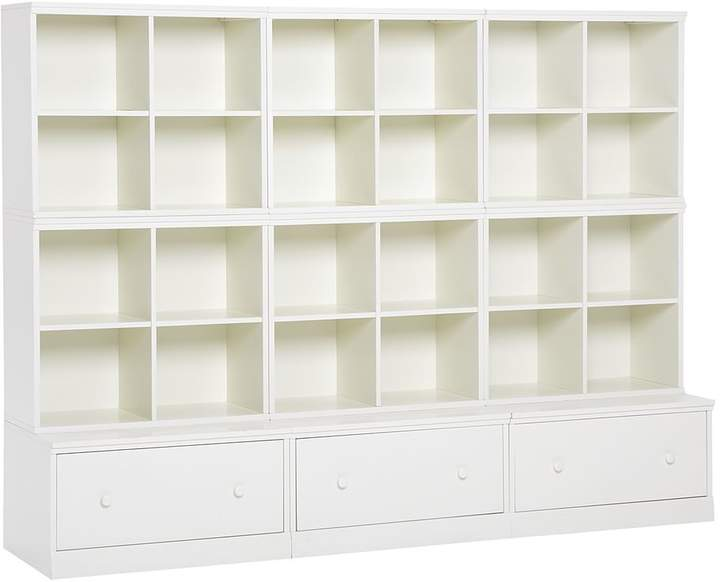Pottery Barn Kids Cameron 6 Cubbies & 3 Drawer Bases, Simply White, UPS