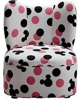 Ethan Allen | Disney Magical Mini Wing Chair, Quick Ship, Lots O Dots Minnie Pink