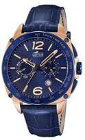 Lotus Men's Quartz Watch with Blue Dial Chronograph Display and Blue Leather Strap 18217/1