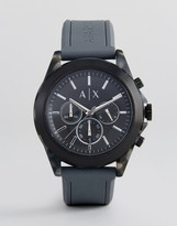 Armani Exchange Ax2609 Chronograph Silicone Watch In Grey 44mm