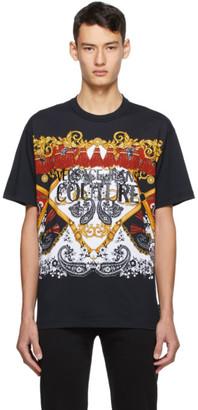 Versace Black Paisley Fantasy Logo T-Shirt