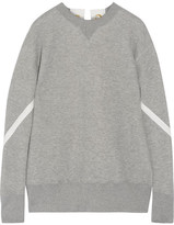 Sacai Lace-up Cotton-blend Sweatshirt - Gray