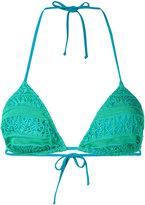 Cecilia Prado crochet bikini top - women - Acrylic/Polyamide/Spandex/Elastane/Viscose - S