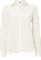 L'Agence Hana Tie Back Button-Down Top