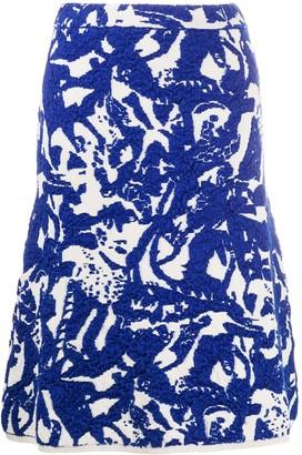 Christian Wijnants jacquard-knit A-line skirt