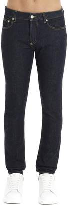 Alexander McQueen Logo Embroidered Skinny Fit Jeans