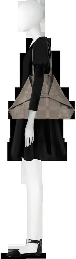 Akris Taiga Leather and Suede Ai Medium Shoulder Bag