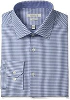 Perry Ellis Men's Slim-Fit Wrinkle-Free Small-Check Dress Shirt