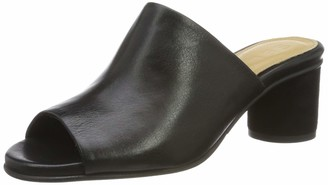 Selected Women's Slfmerle Leather Round Heel Mule B Open Toe