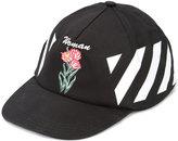 Off-White Diag Othello flower baseball cap - women - Cotton/Acetate - One Size