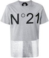 No.21 logo print T-shirt - men - Cotton - 44
