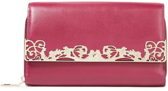 Valentino Appliqued Textured-leather Wallet