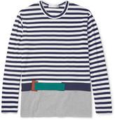Comme Des Garçons Shirt - Appliquéd Cotton-jersey T-shirt