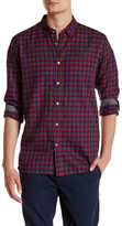 Ted Baker Long Sleeve Tonal Check Trim Fit Shirt
