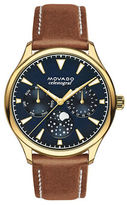 Movado Heritage Leather Strap Watch
