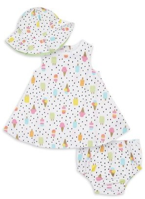 Gerber Baby Girls and Toddler Girl Dress, Matching Panty & Hat, 3-Piece Set