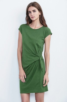 Velvet by Graham & Spencer Gussie Cotton Slub Tie Dress