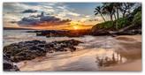 Trademark Fine Art Pierre Leclerc 'Dramatic Hawaiian Sunset' Canvas Art, 32x16