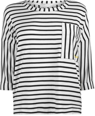 Oui Striped Top Ld92