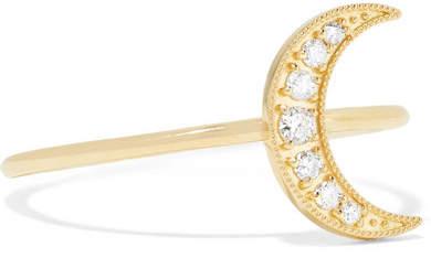Andrea Fohrman Mini Crescent 18-karat Gold Diamond Ring