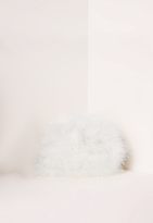 Missguided Feather Clutch Bag Cream