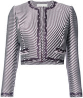 Carolina Herrera cropped embroidered jacket