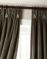 """6009 Parker 120""""L Velvet Curtain with Asfour Crystals"""
