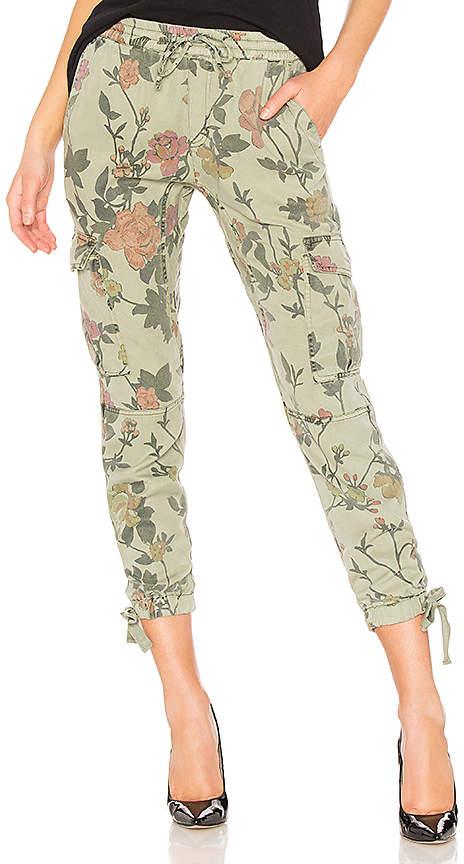 Pam & Gela Floral Printed Cargo Pant