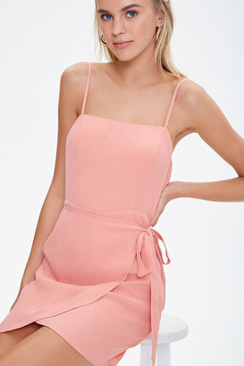 Forever 21 Cami Self-Tie Overlay Mini Dress