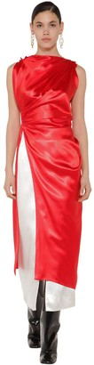 Marni Long Draped Satin Tunic Top